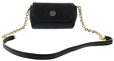 Tory Burch Bryant Quilted Leather Small Crossbody Handbag, Style No. 34029  (Black)