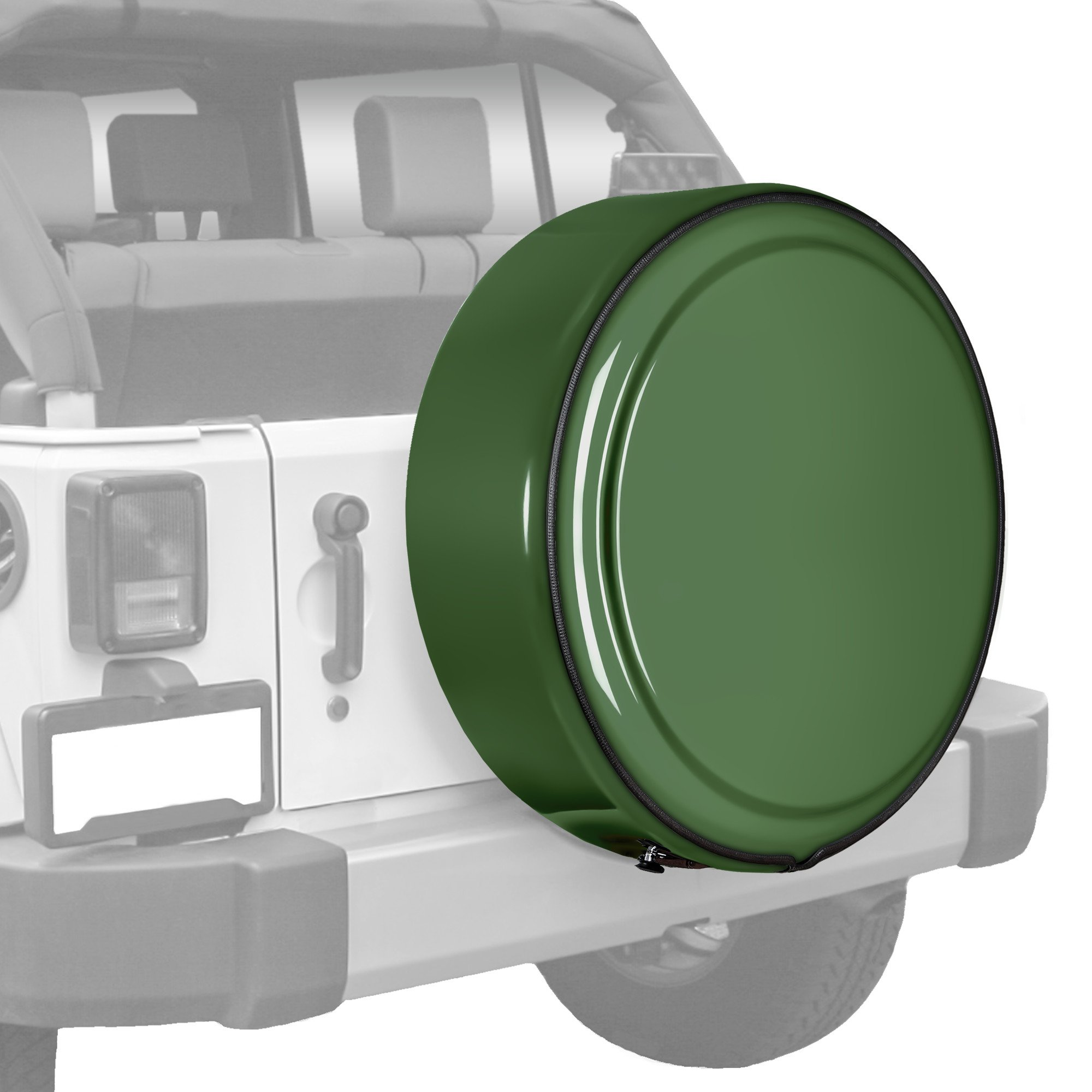 Jeep Wrangler JK - (Moab/X Edition) - 31.5'' Color Matched MasterSeries Hard Tire Cover - Sarge Green