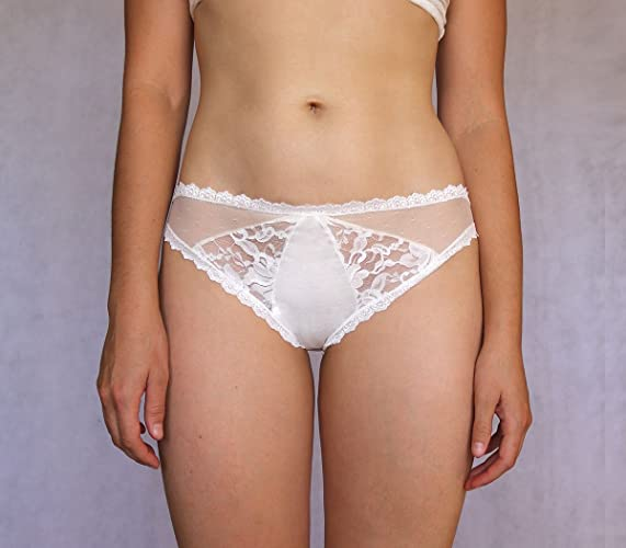 84c543a45af Amazon.com  Ivory Bridal Lace Panties. White Lace Panties. Handmade  Underwear  Handmade