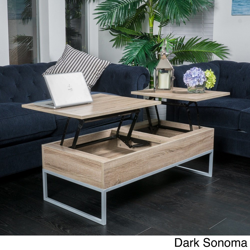 amazon com home lift top wood storage coffee table dark sonoma
