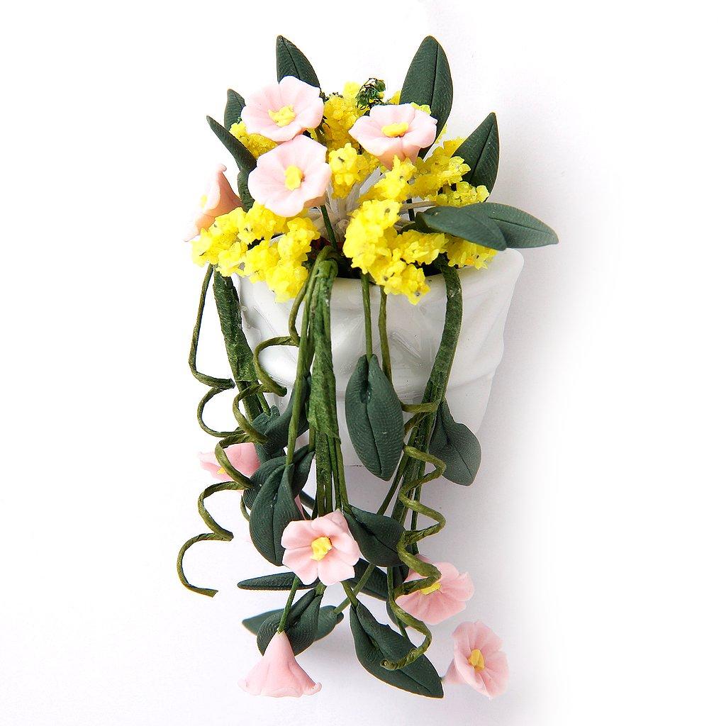1/12 Doll House Living Room Accessory Miniature Flower Bush Decoration---Multicolor Generic