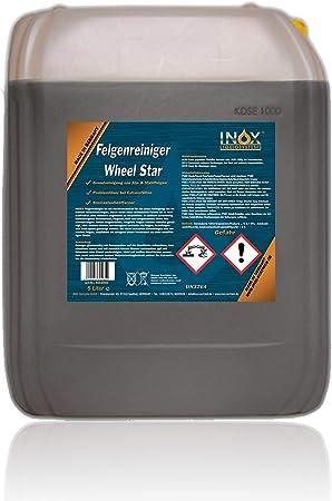 Inox Felgenreiniger Konzentrat 5l Reiniger Für Alufelgen Und Stahlfelgen Entfernt Starke Verschmutzungen Wie Flugrost Und Bremsstaub Auto