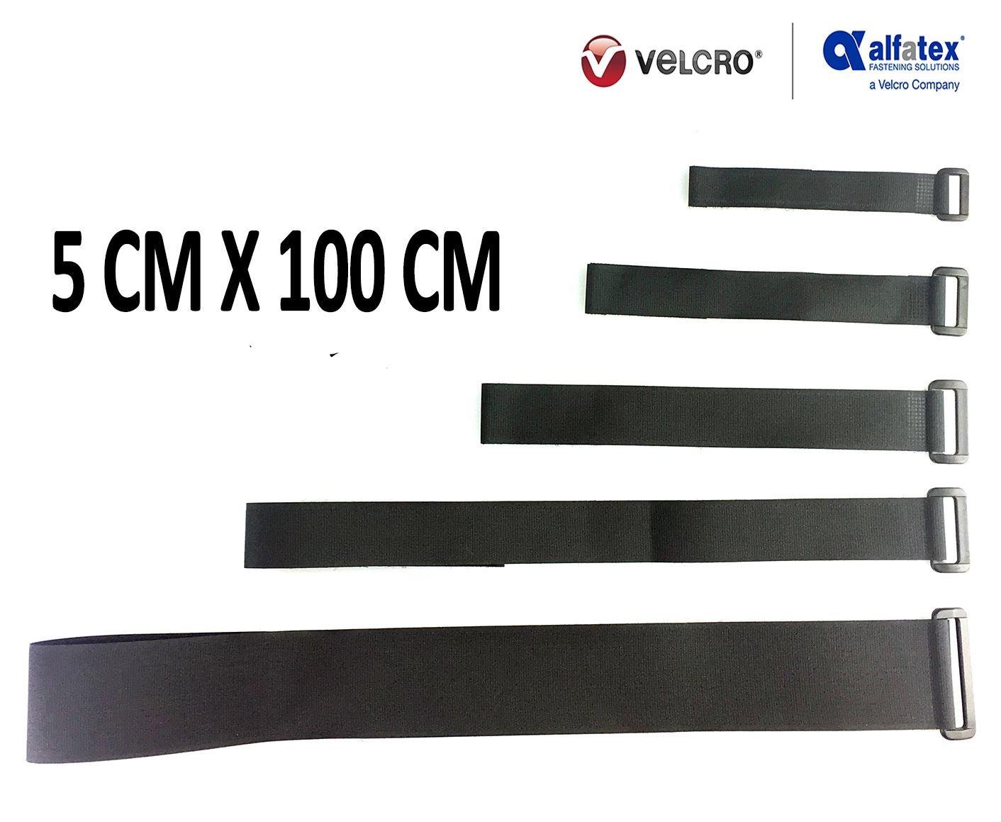 schwarz- 2.5cmx25cm 10 St/ück VELCRO/® Brand wiederverwendbare Klett-Kabelbinder wiederverschlie/ßbar mit Klett-Verschluss und Schnalle universell einsetzbar