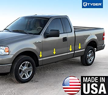 04-08 Ford F-150 Super Cab 6.5/' Short Bed N//F Rocker Panel Trim Stainless Steel
