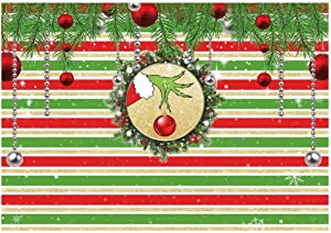 Funnytree 7x5ft Merry Christmas Party Backdrop for Photography Xmas Classical Stripe Snowflake Glittering Background Birthday Decors Baby Shower Holiday Festival Photobooth Cake Table Banner