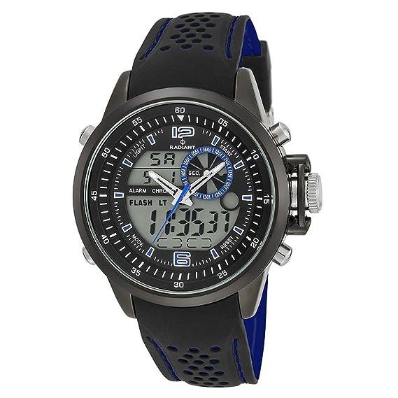 Reloj RADIANT NICKEL FREE RA400603 Hombre Silicona Negro Cronógrafo: Radiant New: Amazon.es: Relojes