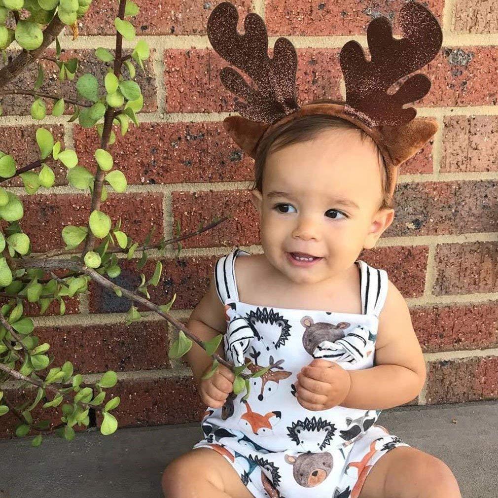 Baby Girl Boy Clothes Newborn Animal Print Bodysuit Infant Sleeveless Romper Jumpsuit Onesies