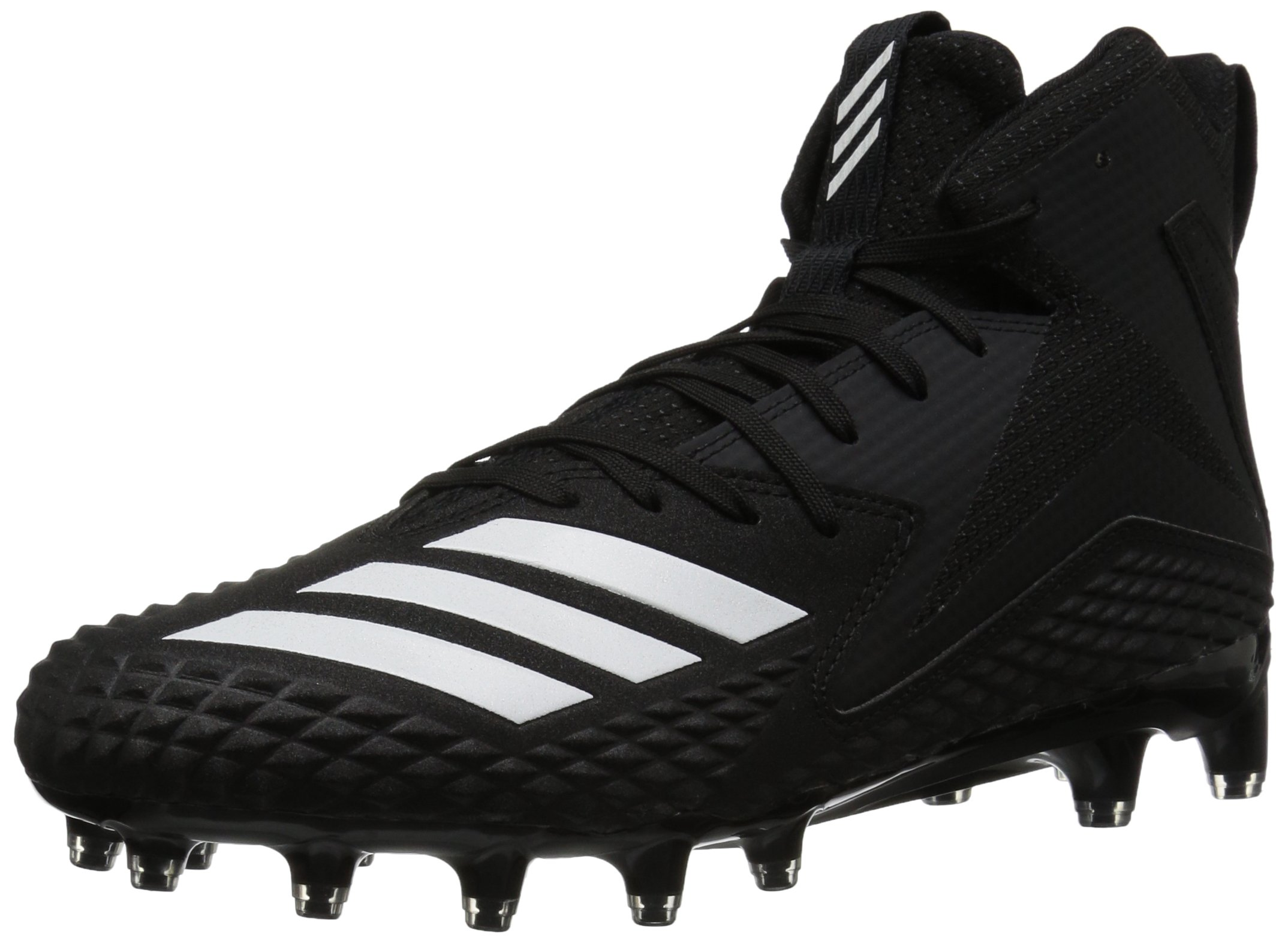 adidas Men's Freak x Carbon Mid Football Shoe, White/Black, 7 M US