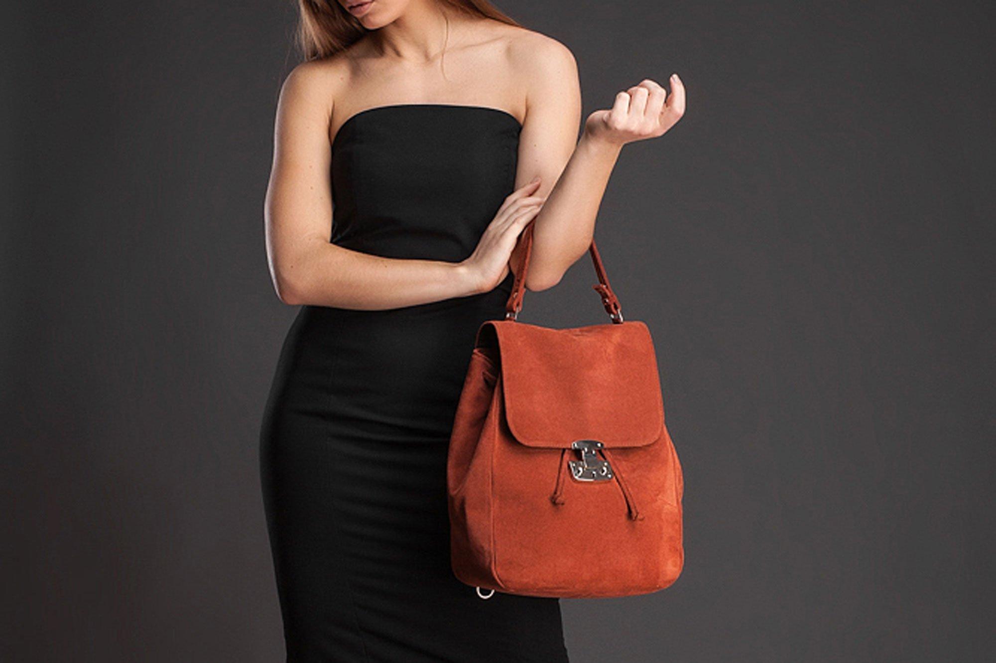 Suede backpack leather backpack leather rucksack backpack purse orande suede backpack laptop backpack school backpack suede bag handbag