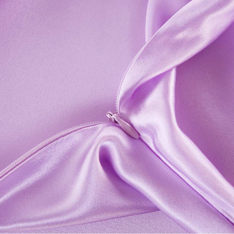 Pink JOQINEER Funda de Almohada de Seda de Morera 100/% Natural Suave y Transpirable con Ambos Lados 21 Momme 600TC Hipoalerg/énico Suave y Transpirable con Ambos Lados Funda de Almohada de Seda