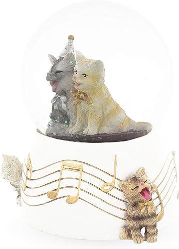 BestPysanky Singing Cats Party Snow Globe