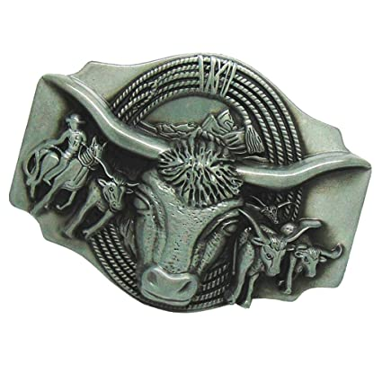 Sharplace Hebilla de Cinturón Diseño Creativo de Patrón Toro/Alce/León /Tigre/