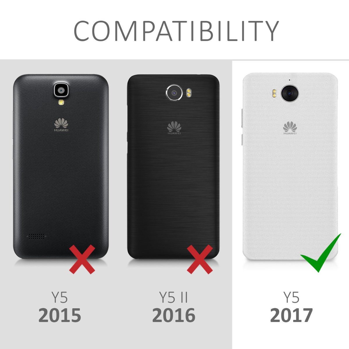 Amazon.com: kwmobile TPU Silicone Case for Huawei Y5 (2017 ...