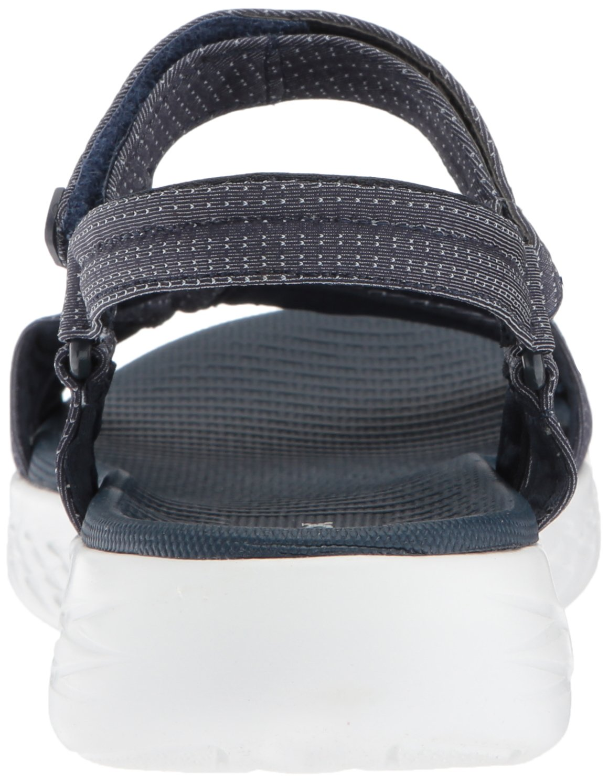Skechers Women's on-The-Go 600-Brilliancy Sport Sandal B072T2TQ7Y 8 B(M) US|Navy