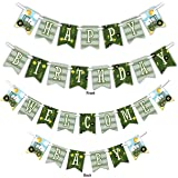 Farm Tractor Time Multi-Use Happy Birthday or Welcome Baby Shower Party Banner Decoration (23ft Ribbon)