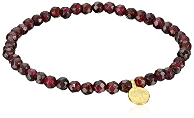 Amazoncom Satya Jewelry Red Garnet Gold Plated Tree of Life