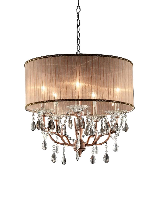 OK-5126h 25-Inch Rosie Crystal Ceiling Lamp