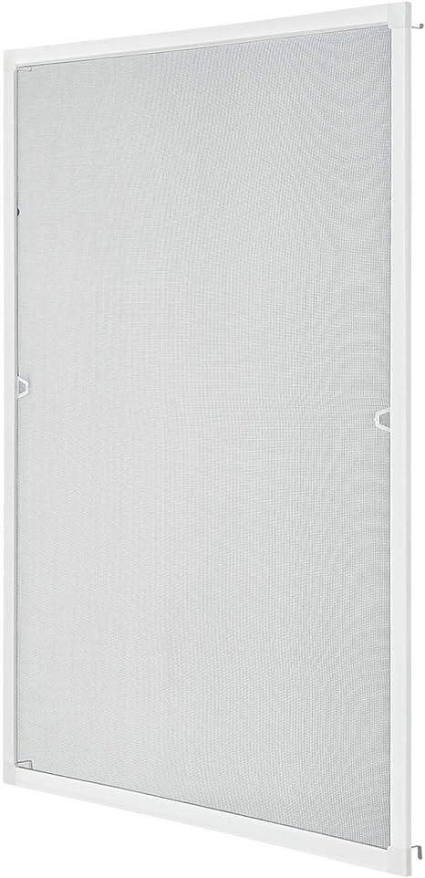 80 cm x 100 cm Rahmen in wei/ß Standard Fliegengitter f/ür Fenster als Alubausatz mit Fiberglasgewebe Insektenschutz