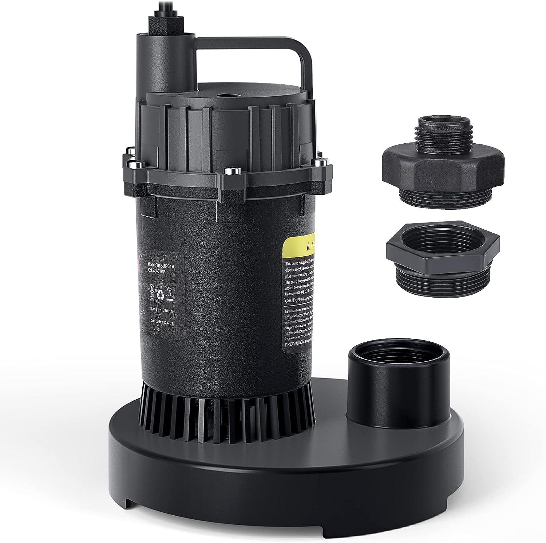 Tacklife 1/2-HP 3300GPH Submersible  Water Sump Pump $34.99 Coupon