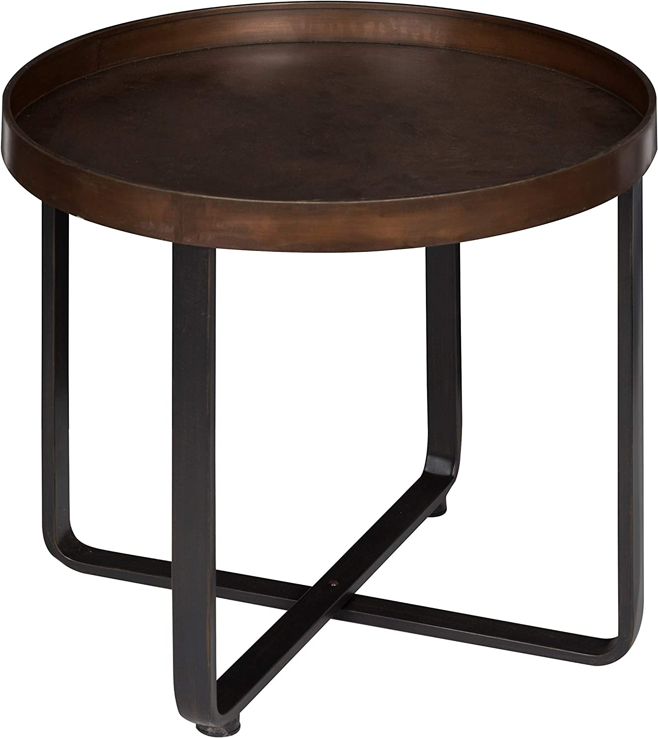 - Amazon.com: Kate And Laurel Zabel Modern Round Metal End Table