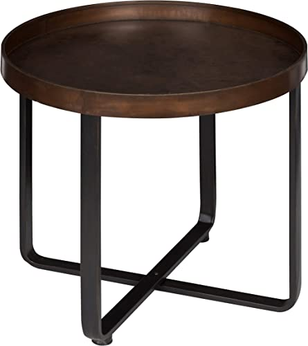 Kate and Laurel Zabel Modern Round Metal End Table