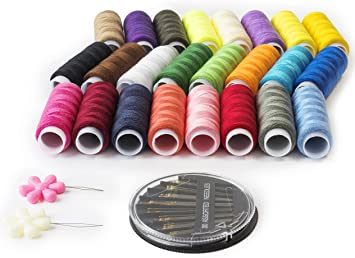 15 x TS Cotton Sewing Thread Spools Machine Stitching Quality Threads Assorted