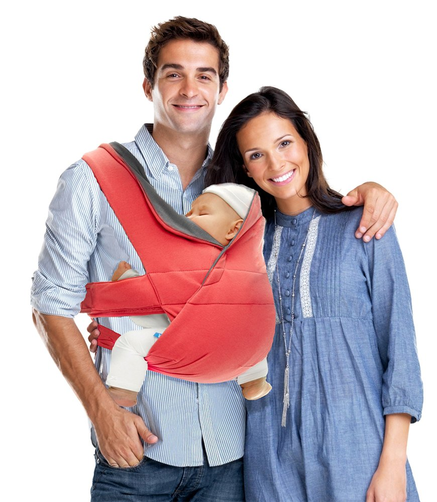 Wallaboo Cross - Mochila portabebé ajustable y ergonómica, color rojo: Amazon.es: Bebé