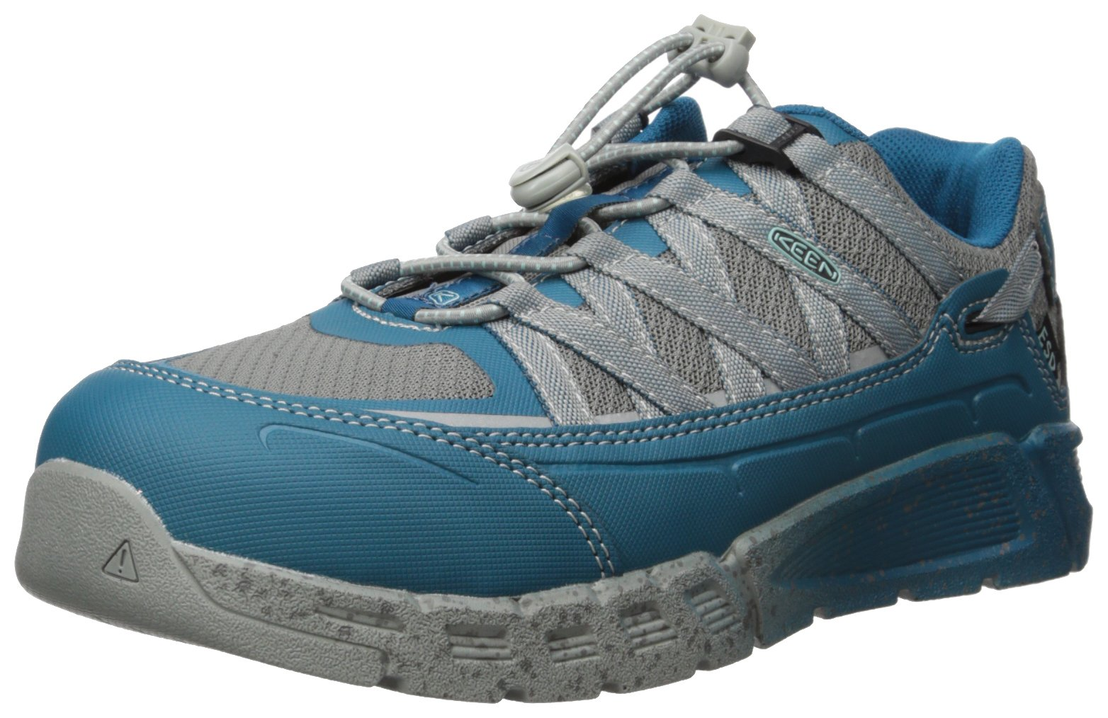 KEEN Utility Women's Asheville at ESD Industrial and Construction Shoe, Ink Blue/Eggshell Blue, 7.5 W US