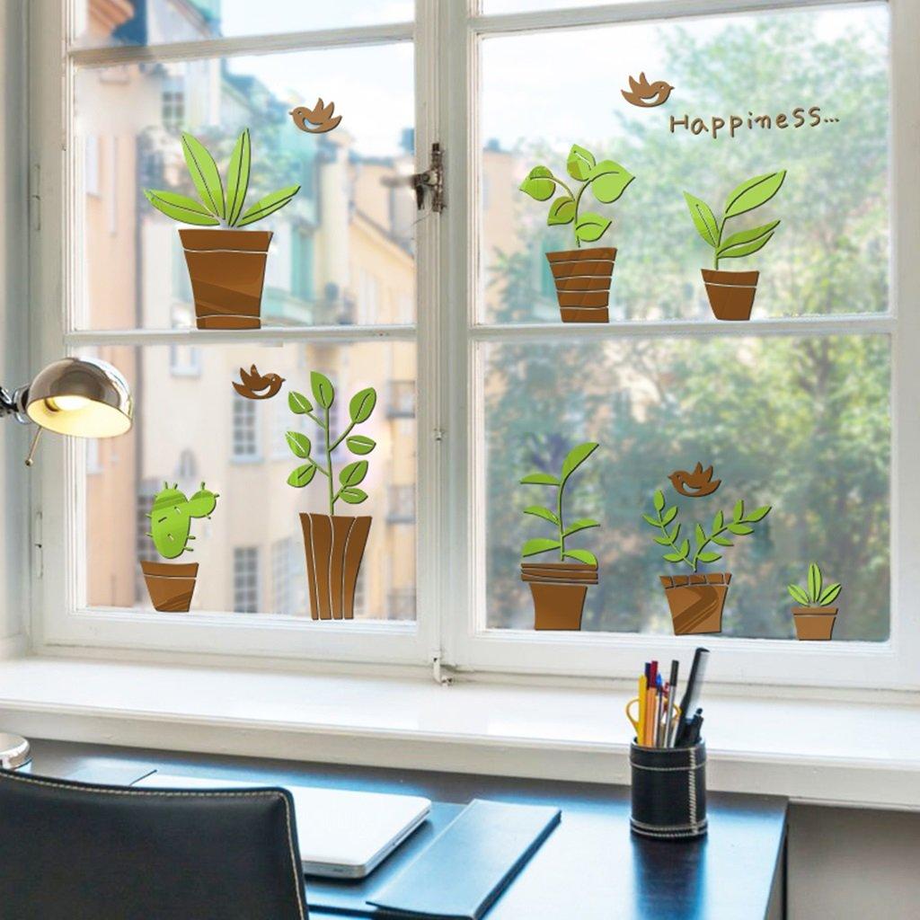 DWW-Wandsticker Wandaufkleber Pflanze Bonsai Acryl 3d Kinderzimmer Hintergrund Dekorationen mit Klebstoff kommen kann nicht entfernen Wandsticker ( größe : S )