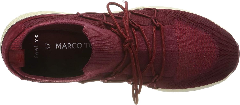 MARCO TOZZI 2-2-23710-33, Scarpe da Ginnastica Basse Donna Rosso Chianti Comb 522