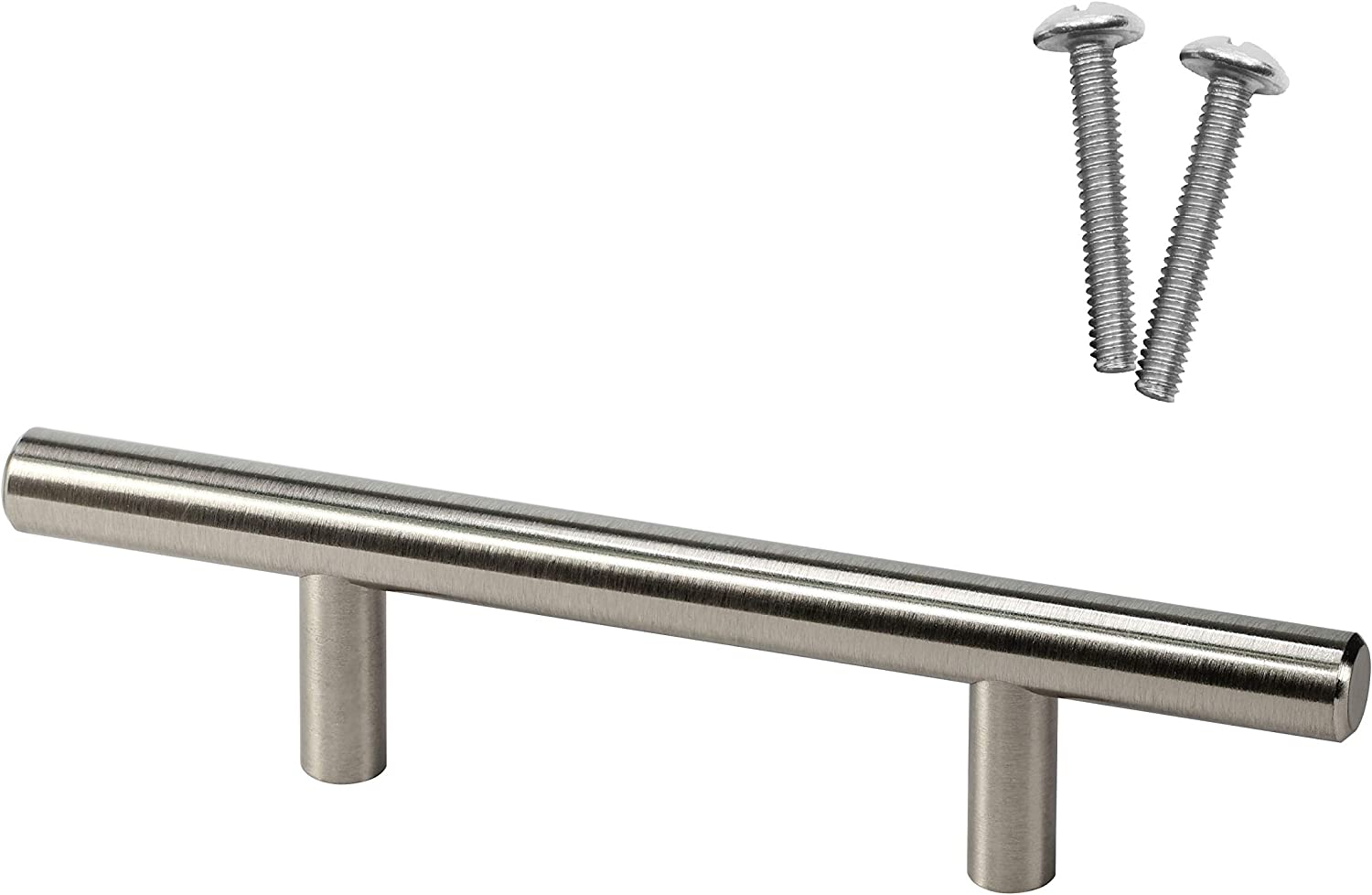 "5 Rok 3/"" Brushed Nickel Kitchen Cabinet Drawer T Bar Pull Handle Pull 6/"" Length"