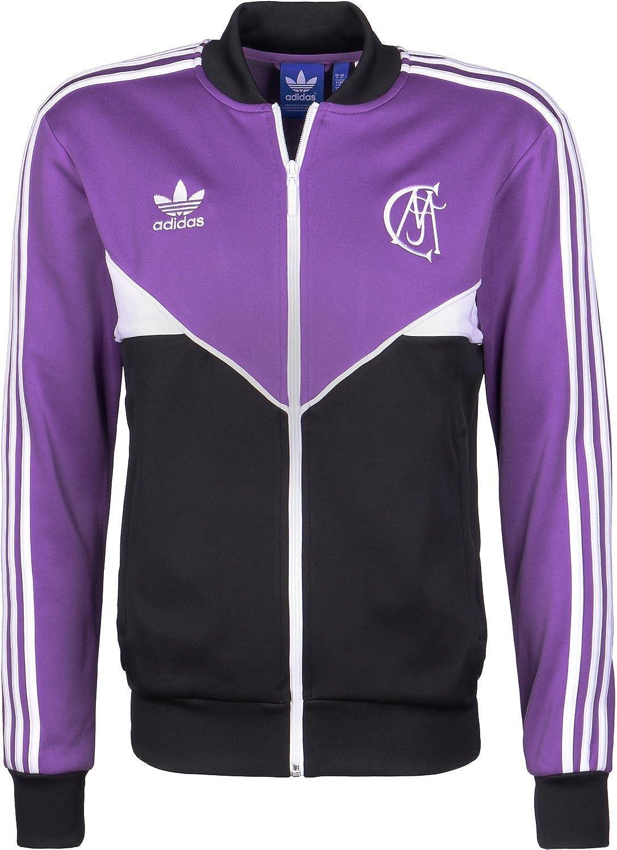 66dc812f4ceb adidas Originals Mens Real Madrid Football Track Jacket - Purple - XS at  Amazon Men s Clothing store