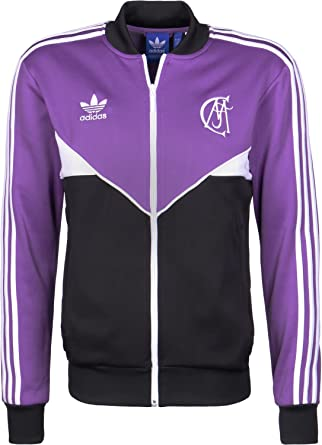 41d116e98 adidas Originals Mens Real Madrid Football Track Jacket - Purple - XS