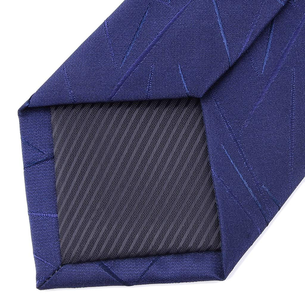 NLXTXQC Mens Fashion Tie Irregular Pattern Business Dress Solid Color Fine Wedding Gift Box Necktie Polyester Neckwear Pre Tied Color : Black