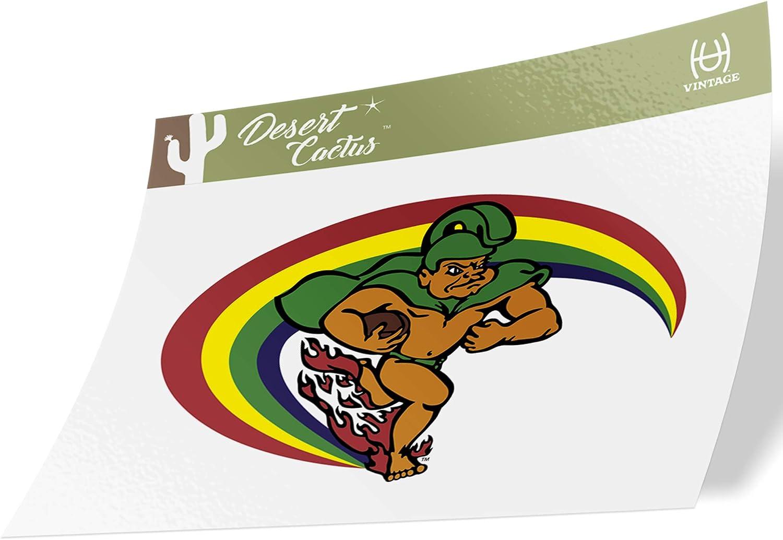 University of Hawaii Rainbow Warriors NCAA Design Sticker Vinyl Decal Laptop Water Bottle Car Scrapbook (Sticker - 7 Vintage)
