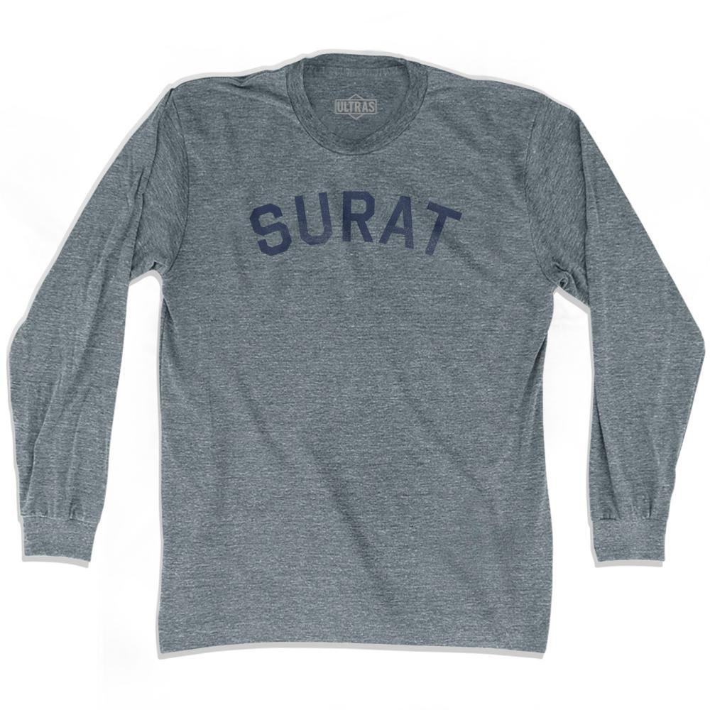 Surat Vintage City Adult Tri Blend Long Sleeve T Shirt