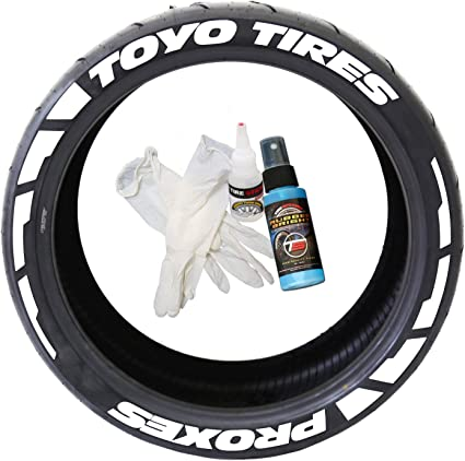 Permanent Tire Lettering Markers 8 Pens TOYO Brand Waterproof Tyre Marker Letter