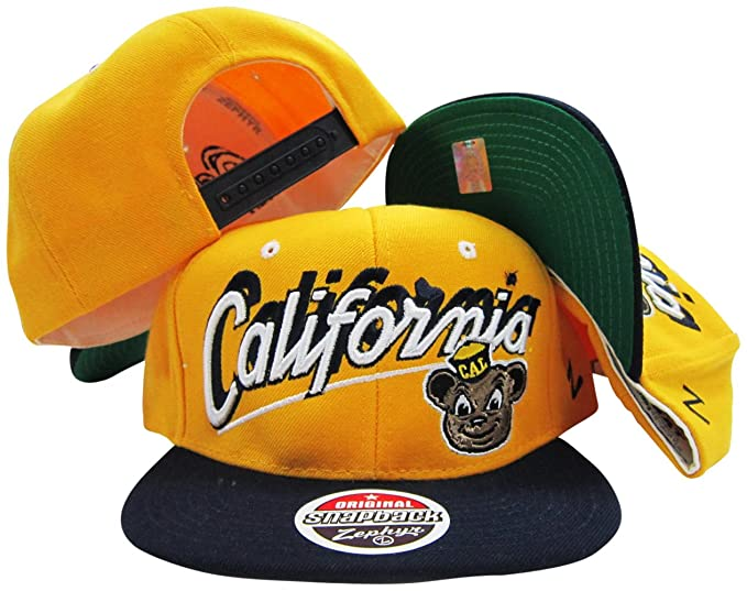 online retailer a33d3 f2b24 Image Unavailable. Image not available for. Color  ZHATS California State Cal  Golden Bears Gold Navy Two Tone ...