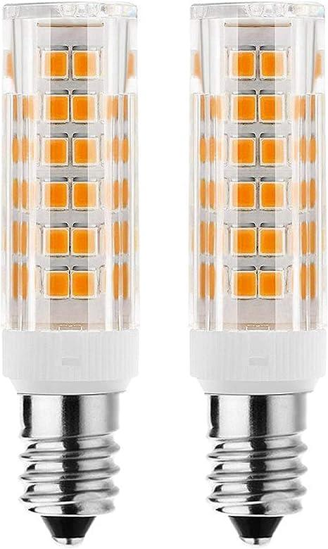 E11 Led Bulb 75w 100w Halogen Bulbs Replacement Jd T4 E11 Mini Candelabra Base 110v 120v 130 Voltage Input Light Bulbs Pack Of 2 Warm White 6w