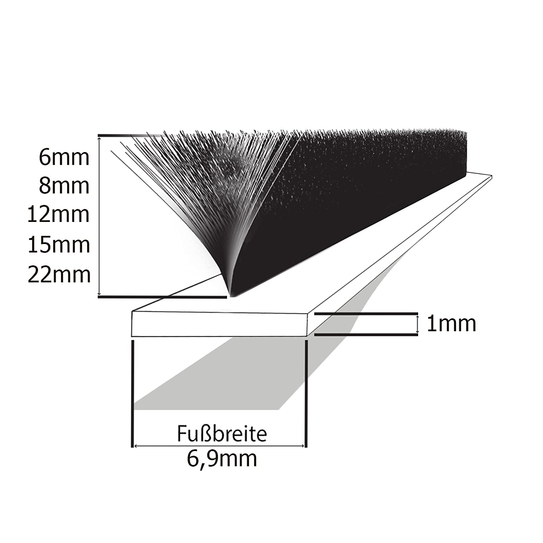 12m guarnizione in gomma 9 x 7.4mm bianca D profilo per porte e finestre EPDM