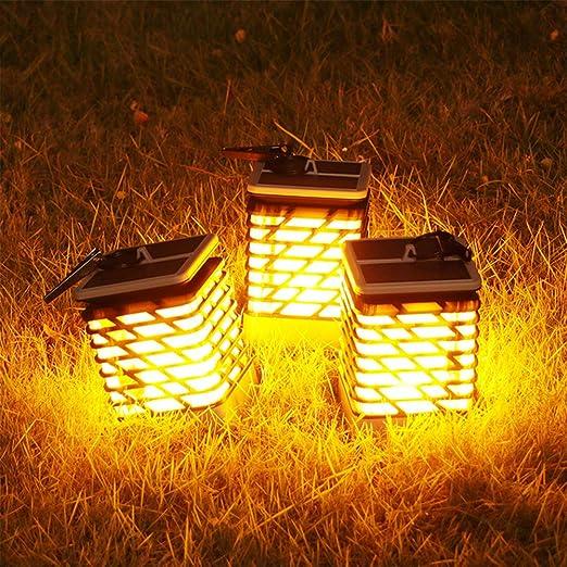 AKDSteel - Lámpara Solar LED para Exteriores, Resistente al Agua, para jardín, Paisaje, Camino de decoración: Amazon.es: Hogar