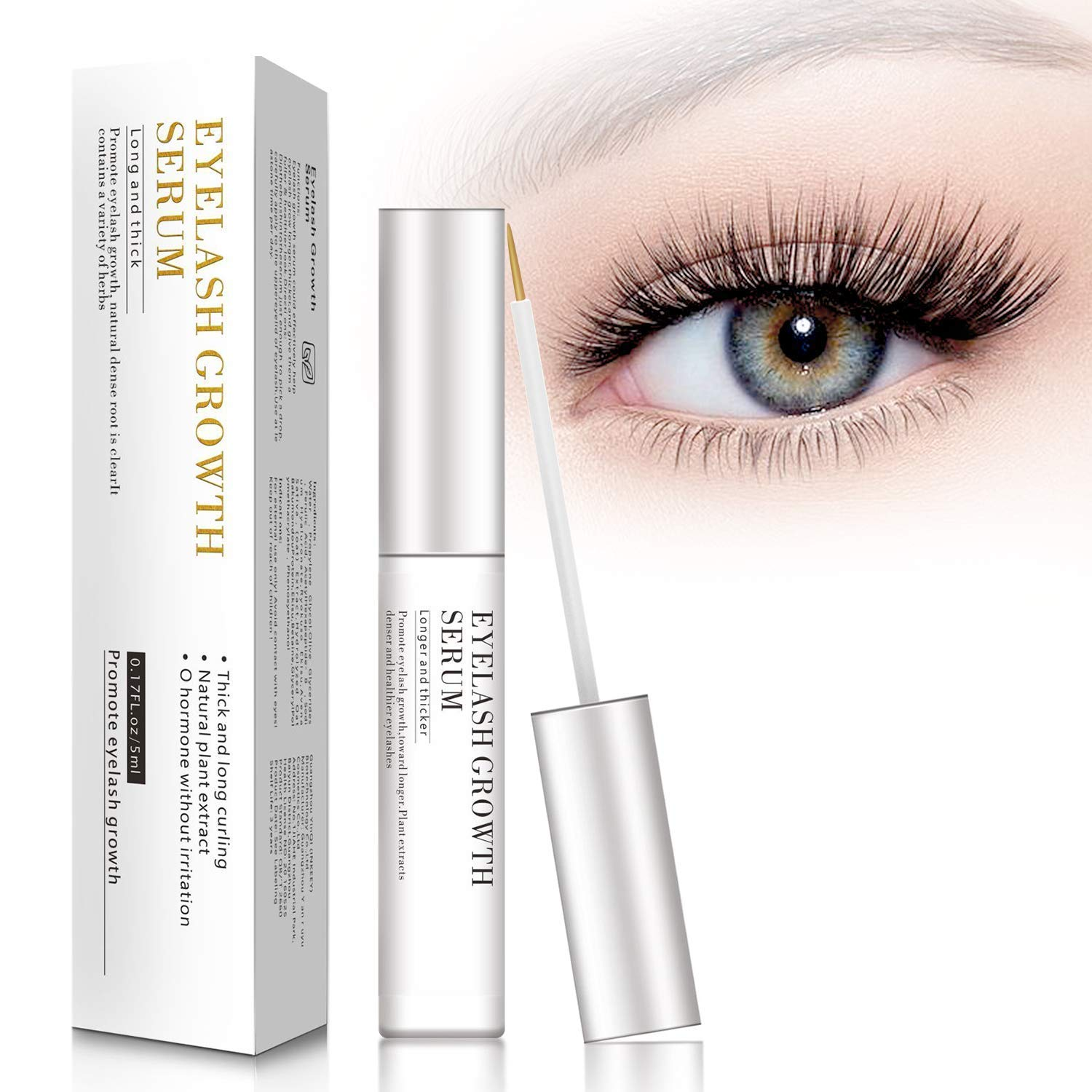 87a8194667a Amazon.com: MayBeau Eyelash Growth Serum,Natural Brow Lash Enhancer,Nourish  Damaged Lashes and Boost Rapid Growth: Beauty