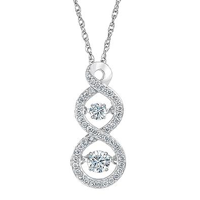 Amazon twinkling diamond double infinity diamond pendant 12ctw twinkling diamond double infinity diamond pendant 12ctw aloadofball Image collections
