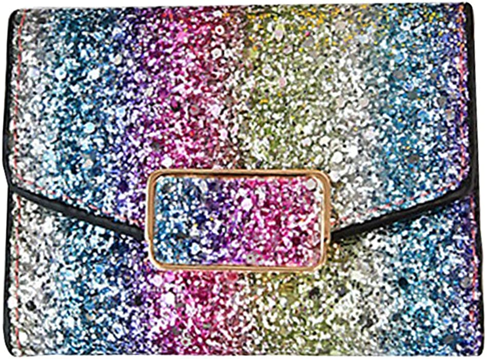 92f0f6be654 OULII Fashion Sparkly Wallet Sequins Glitter Purse Bling Party Clutch  Handbag Evening Bag with Rectangular Lock