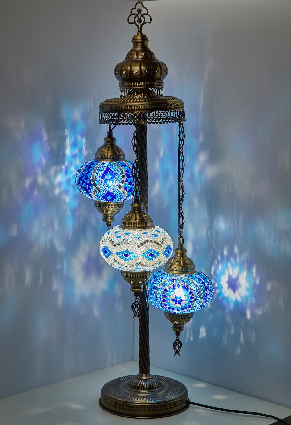 Turkish moroccan mosaic glass handmade tiffany floor lamp light 29 5 multicolor amazon com