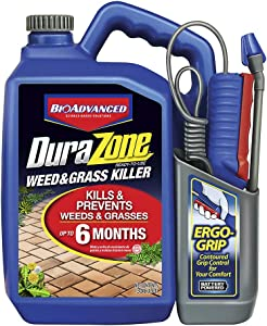 BioAdvanced 704370A DuraZone Weed & Grass Killer, Non-Selective Herbicide with 6 Months of Protection, 1.3-Gallon, Ready-To-Use