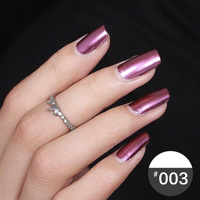 sunshineBoby Espejo de acero inoxidable color esmalte de uñas ...