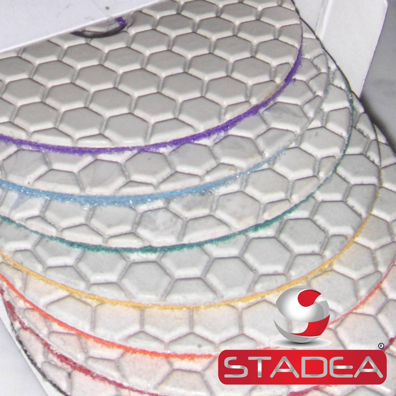 stone marble polishing kit 4'' dry - Diamond Polishing Pads Rubber Backing Pads Set By STADEA