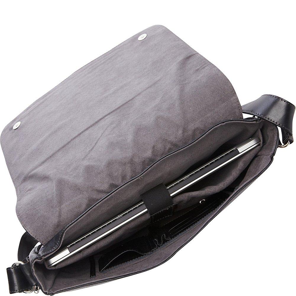 Piel Leather Deluxe Vertical Briefcase Blk Black