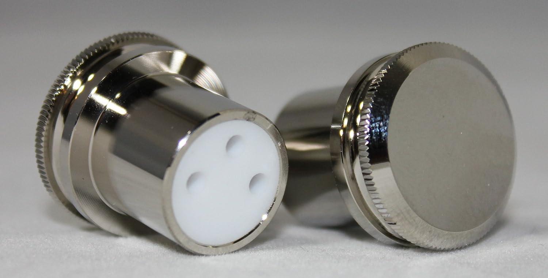 Rhodium Plated XLR male Female Noise Reducing Caps ptfe  Insulation JGUK  juRSDE